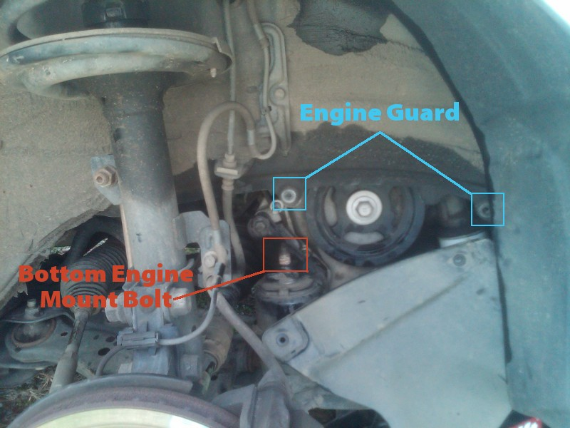 Replacing A Serpentine Belt Tensioner Assembly On 2004 Toyota Rhbibo: 2004 Camry Engine Mount Locations At Elf-jo.com