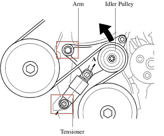Replacing A Serpentine Belt Tensioner Assembly On A 2004 Toyota